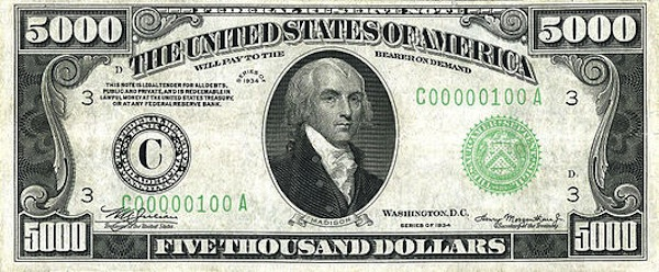 5000 bill